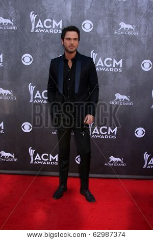 LAS VEGAS - APR 6:  Chuck Wicks at the 2014 Academy of Country Music Awards - Arrivals at MGM Grand Garden Arena on April 6, 2014 in Las Vegas, NV