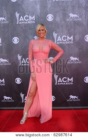 LAS VEGAS - APR 6:  Sarah Davidson at the 2014 Academy of Country Music Awards - Arrivals at MGM Grand Garden Arena on April 6, 2014 in Las Vegas, NV