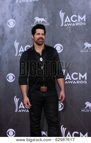 LAS VEGAS - APR 6:  JT Hodges at the 2014 Academy of Country Music Awards - Arrivals at MGM Grand Garden Arena on April 6, 2014 in Las Vegas, NV