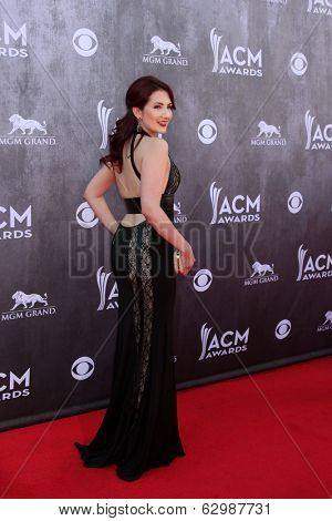 LAS VEGAS - APR 6:  Katie Armiger at the 2014 Academy of Country Music Awards - Arrivals at MGM Grand Garden Arena on April 6, 2014 in Las Vegas, NV