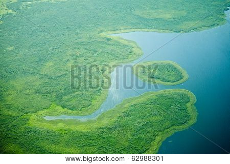 aerial view of nile river in south sudan