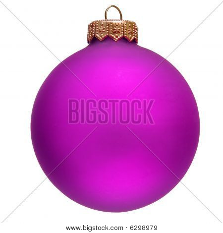 Purple Christmas Ornament .