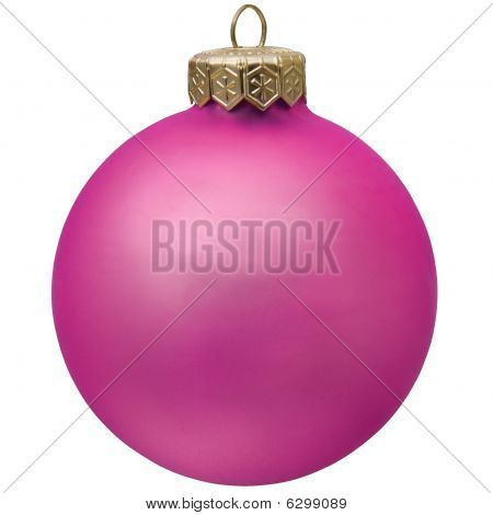 Purple  Christmas Ornament .