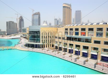 Dubai Mall Shopping And Entertainment Center In Dubai Downtown, Uae