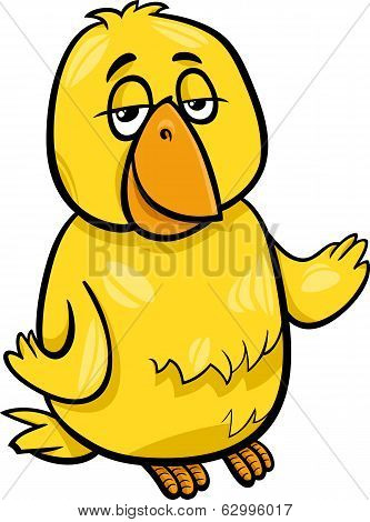 Canary Bird Character Cartoon Illustration