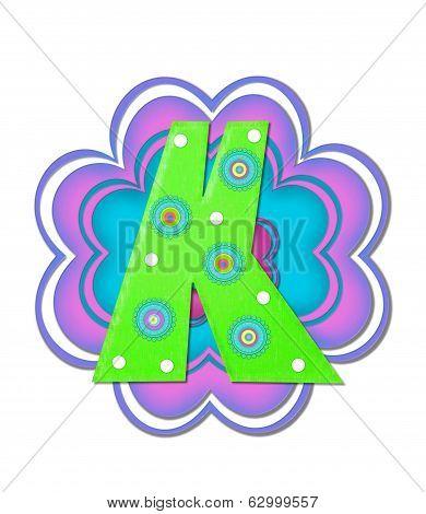 Alphabet Hippy Power K
