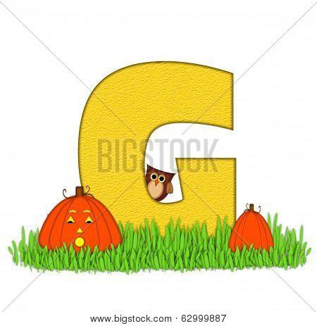 Alphabet Pumpkin Patch G