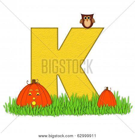 Alphabet Pumpkin Patch K