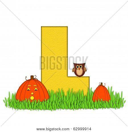 Alphabet Pumpkin Patch L