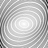 picture of distortion  - Design monochrome whirl circular motion background - JPG