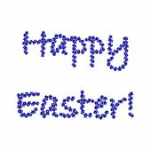 Colorful Easter Background With Words Decorated With Cornflowers