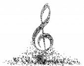 picture of g clef  - Musical note staff - JPG