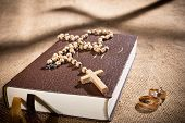 pic of humble  - still life with bible and wedding rings