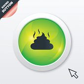 image of feces  - Feces sign icon - JPG