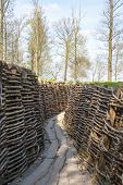stock photo of sandbag  - Bayernwald Trenches world war one flanders Belgium