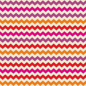 stock photo of aztec  - Aztec Chevron seamless colorful vector pattern or tile background with zig zag red - JPG