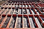 stock photo of formwork  - construction formwork building reinforcement construction equipment at building site - JPG