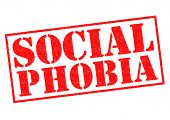 pic of dread head  - SOCIAL PHOBIA red Rubber Stamp over a white background - JPG