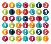 stock photo of alphabet  - Flat icons creative colorful alphabet - JPG