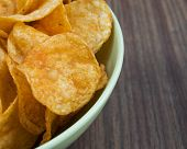 Background potato chips