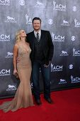 LAS VEGAS - APR 6:  Miranda Lambert, Blake Sheldon at the 2014 Academy of Country Music Awards - Arr