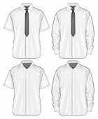 foto of button down shirt  - Vector illustration of dress shirts  - JPG