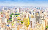 image of polution  - Aerial view of the city of Sao Paulo - JPG