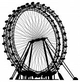 image of carnival ride  - Rotate Ferris Carnival Carousel Isolated Illustration Vector - JPG