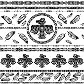 stock photo of tribal  - Indian tribal abstract pattern background vector illustration - JPG