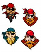 pic of buccaneer  - Old danger pirates buccaneers corsairs and sailors in cartoon style - JPG