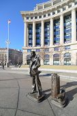 WASHINGTON, D.C. - JAN 20, 2013: Lone Sailor Statue at Navy Memorial which honors those who served i