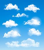 image of condensation  - Set of transparent different clouds - JPG