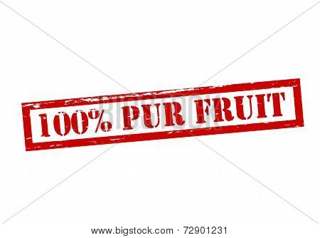One Hundred Percent Pur Fruit
