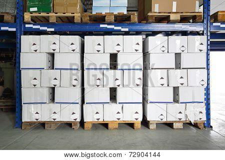 Warehouse Pallets Boxes