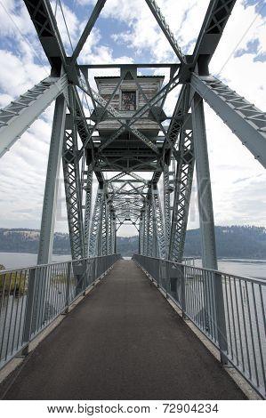 Bike Bridge Over Lake.