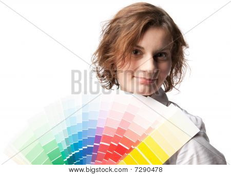 Female With Palette