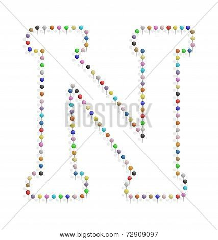 Letter N With Clips