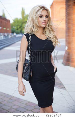 Elegant Woman Posing Outdoor