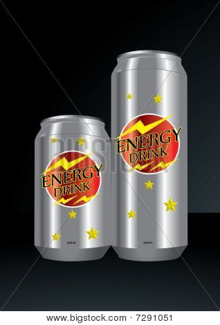 Silver colored Energy Drink Can