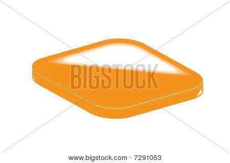 Orange glassy blank web button