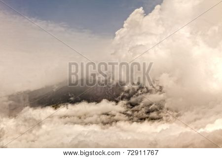Plume Of Ash And Steam From The Tungurahua Volcano, South America