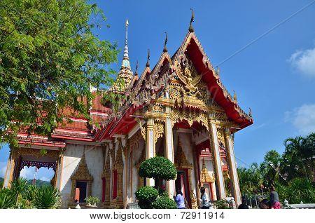 Phuket, Thailand - April 15, 2014 : Wat Chaitharam Or Wat Charong On April 15, 2014