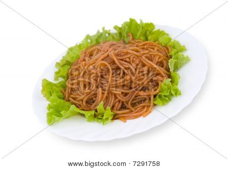 Chinese Food. Starch Noodles, Clipping Path.
