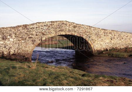 Old Stone Bridge In Aberffraw