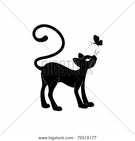 Black cat silhouette.
