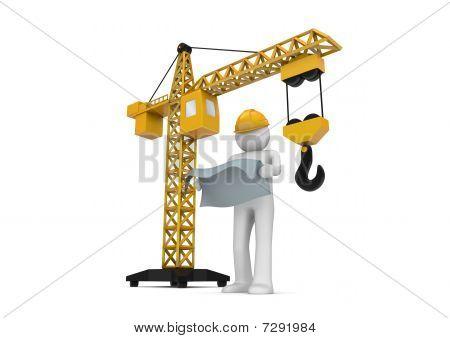Builder And Crane