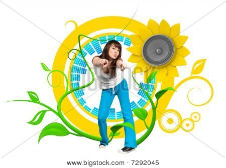Happy Young Dancer
