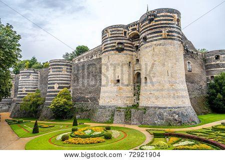 Bastions Of Fortress In Angers