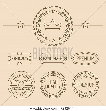 Vector Set Of Line Badges And Logos