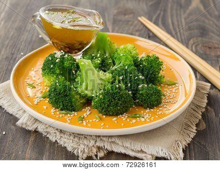 Broccoli with sesame seeds